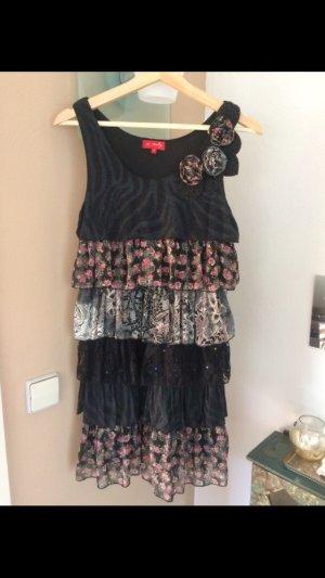 Kleid mit Blütenapplikationen Größe M