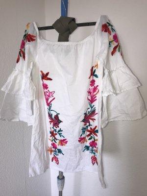 Kleid mit Blumenaufnaht