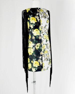 Kleid mit Blumenmustern  und schwarzen Seidenen Fäden (Mangano) Gr.S