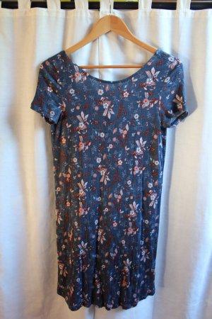 Kleid mit Blumenprint und Rückenausschnitt