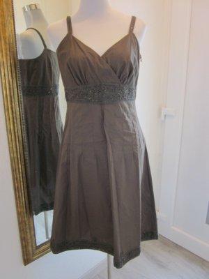 Kleid mit Bolero  Braun Mega Dekoltee Gr 36/38