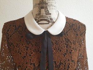 Kleid mit Bubikragen und Spitze