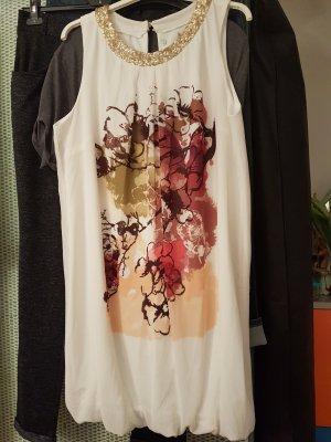 Kleid mit buntem Graffitti Muster und kleinem Pailetten Kragen