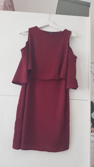 Boohoo Cut out jurk donkerrood