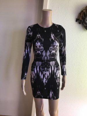 H&M Vestido cut out negro-blanco