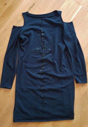 Sarah Pacini Cut out jurk donkerblauw Gemengd weefsel