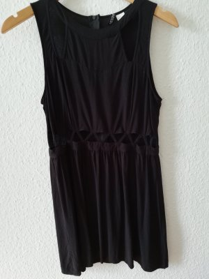 H&M Divided Abito cut out nero Viscosa
