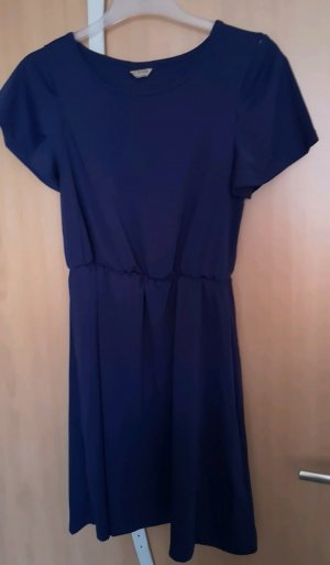 Cut out jurk donkerblauw