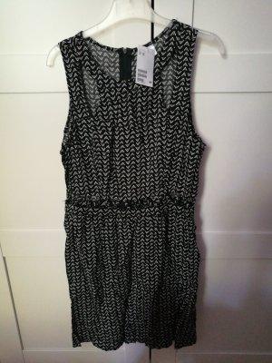 H&M Vestido cut out blanco-negro