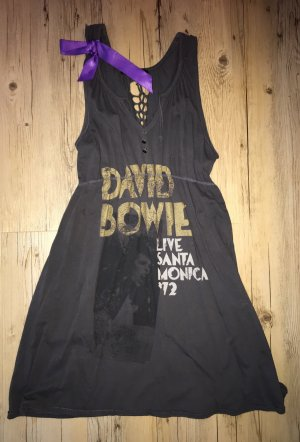 Kleid mit David Bowie Schriftzug und Schleife