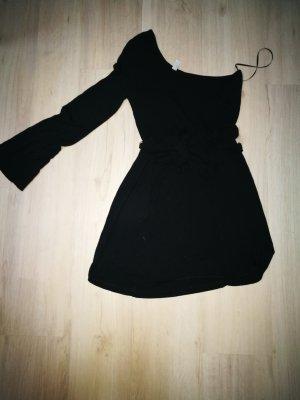 Vero Moda Vestido de tela de sudadera negro