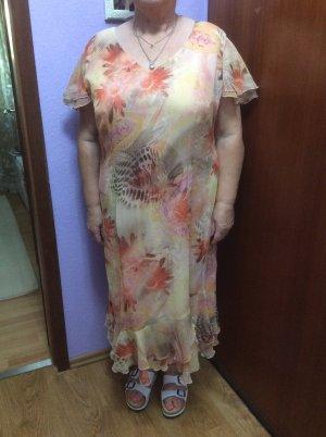 Robe chiffon multicolore polyester