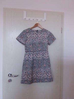 H&M Vestido de manga corta multicolor Poliéster