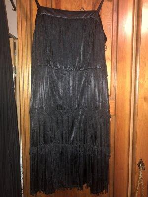 Jurk met franjes zwart