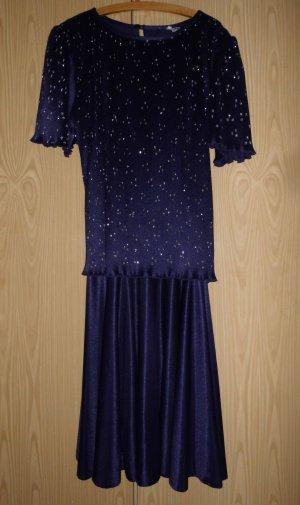 Robe à manches courtes bleu foncé