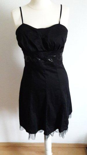 Kleid mit glitzer in schwarz
