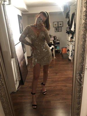 Kleid mit Glitzer und Pailletten