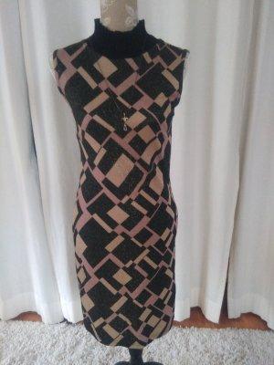 Kleid mit Goldfäden Gr. S Retro Brauntöne - etwas besonderes!