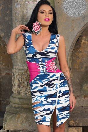 Kleid mit Gürtel - voll im Trend Größe M