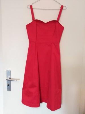 Kleid mit Herzausschnitt, rot-magenta, abnehmebare Träger