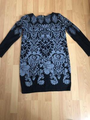 Warehouse Robe à manches longues noir-gris clair