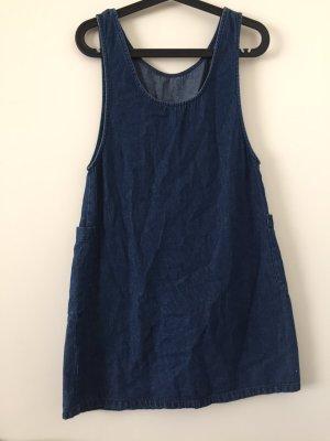 A-lijn jurk staalblauw Katoen