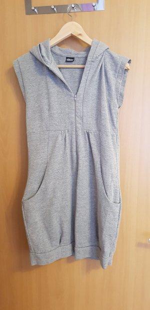 Chillytime Vestido de tela de sudadera gris claro-gris