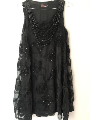 Yumi Sequin Dress black-silver-colored polyester