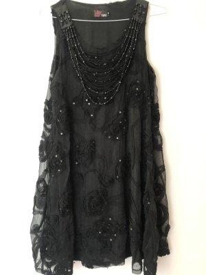 Yumi Jurk met pailletten zwart-zilver Polyester