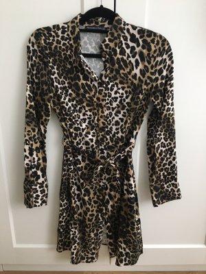 Abercrombie & Fitch Blouse Dress light brown-black