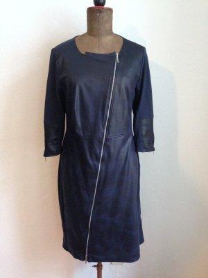 Kleid mit Kunstleder Besatz vorne von Heine, Gr. 44