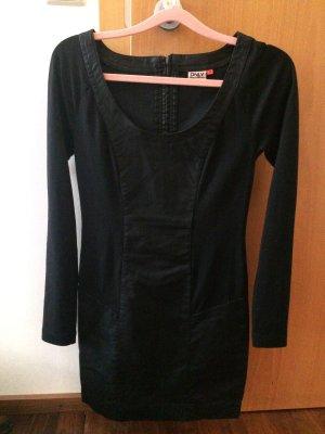 Only Leren jurk zwart Imitatie leer