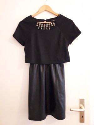 Kleid mit Lederrock