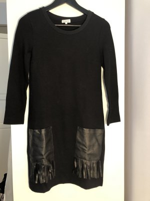 Kleid mit Ledertaschen