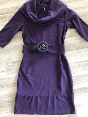 Flame Robe pull violet foncé