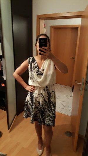 Closet Chiffon jurk wit-zwart
