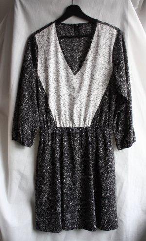 H&M Babydoll Dress black-white