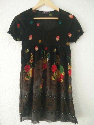 Mina UK Babydoll-jurk zwart-brons Polyester