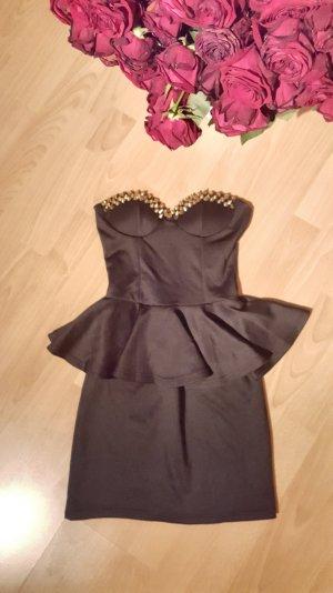 Kleid mit Nieten schwarz/gold