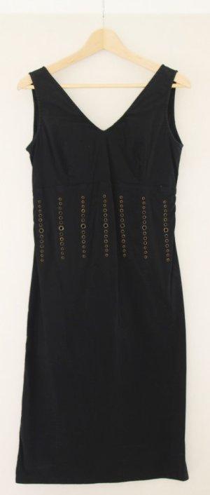 Vestido ceñido de tubo negro Algodón