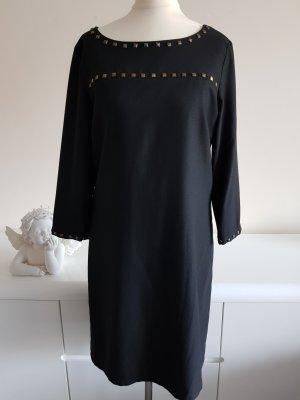 More & More Robe à manches longues noir-doré