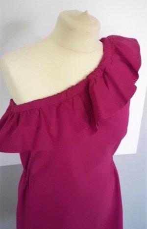 Kleid mit One-Shoulder-Träger und Rüschenbesatz