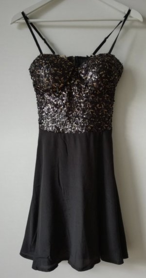 Kleid mit Pailetten-Bustier