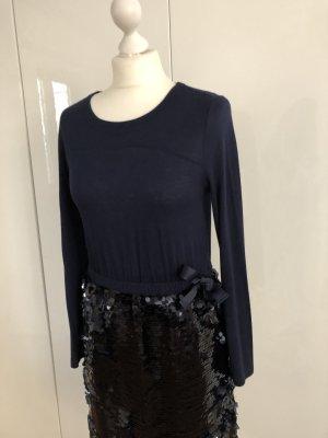 Kleid mit Pailletten, dunkelblau STEFFEN SCHRAUT *NEU*