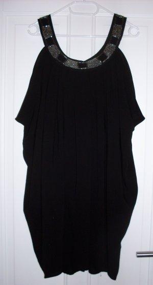 Kleid mit Pailletten in schwarz