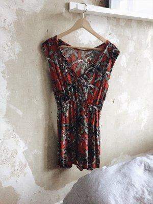 Kleid mit Palmendruck von Mango