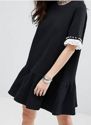 Reclaimed Vintage Sweat Dress white-black