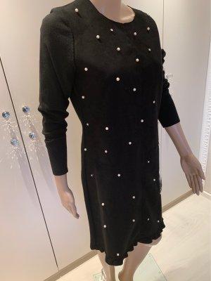 Kleid mit Perlen schwarz L /XL