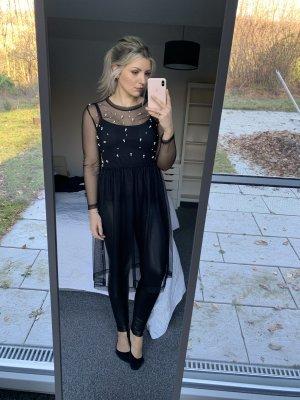 Zara Vestido negro-blanco