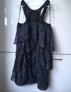 Kleid mit Pfauenfedermuster in 38